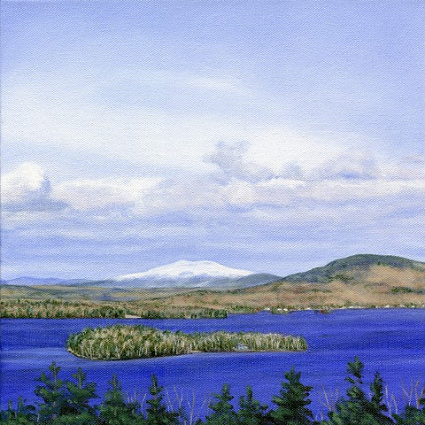 oil painting rangeley lake, maine