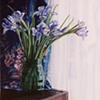 Dutch Irises in a Green Vase