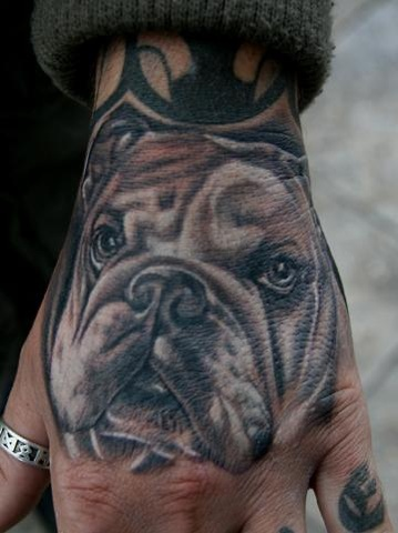Portrait of customers dog that I did while at the Evian Tattoo Convention in France.