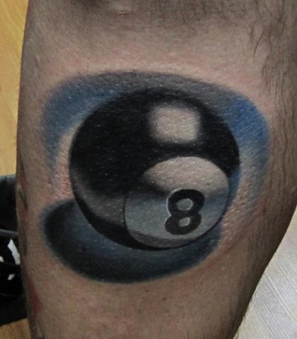 8 Ball Tattoo 3 dimensional Tattoo Awesome Best