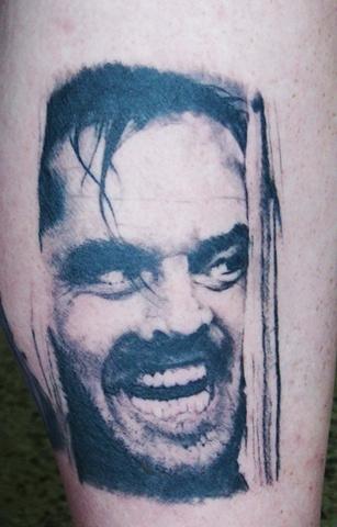 Shining tattoo, shining portrait, jack Nicholson tattoo, Saints and Scholars Tattoos Bastrop, TX,