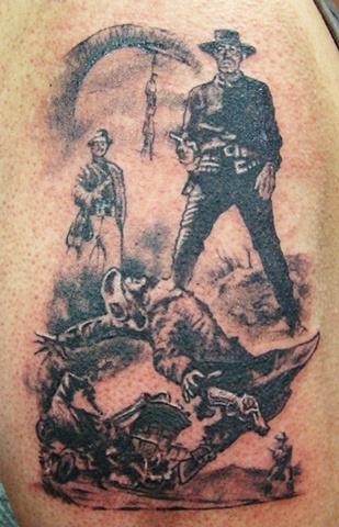 Western cowboy tattoo designs - photo#19