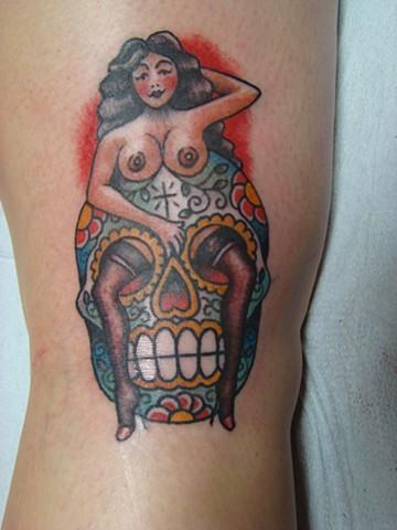 Sugar Skull Woman on Kristina