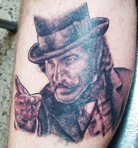 Bill The Butcher Tattoo, Gangs of New York Tattoo, Bill the Butcher Portrait, Saints and Scholars Tattoos Bastrop, TX,