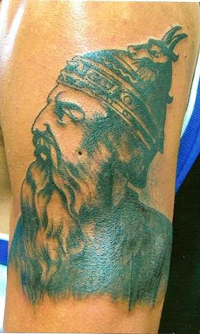 Skanderbeg, Skanderbeg tattoo, scanderbeg tattoo, albania tattoo, Saints and Scholars Tattoos, Bastrop, TX,