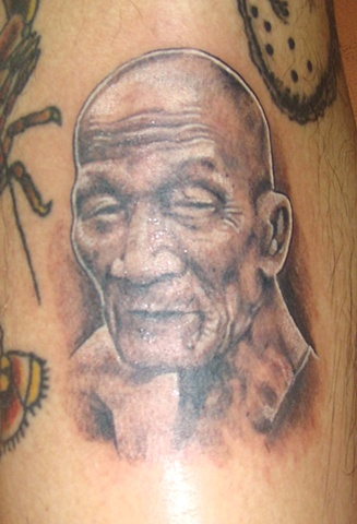 monk tattoo, monk portrait, Saints and Scholars Tattoos Bastrop, TX,