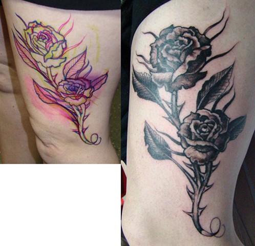Drawn on Roses on Jen