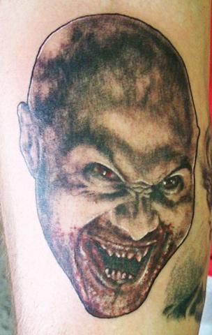 vampire tattoo, 30 days of night tattoo, Saints and Scholars Tattoos Bastrop, TX,