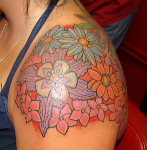 Flowers on Heather