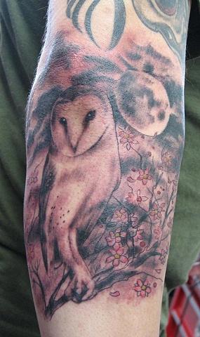 owl tattoo, Saints and Scholars Tattoos, Bastrop, TX,