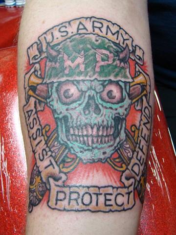 MP Tattoo on Mr Calvert