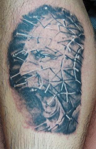 Pinhead, pinhead tattoo, horror portrait, scary tattoo, Saints and Scholars Tattoos Bastrop, TX