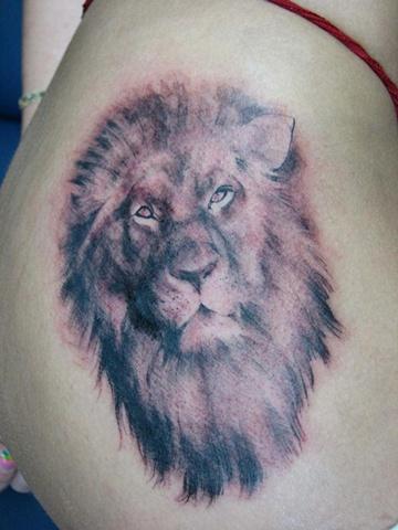 lion tattoo, lion portrait, Saints and Scholars Tattoos, Bastrop, TX,