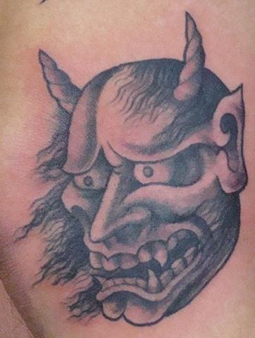 demon tattoo, oni tattoo, Saints and Scholars Tattoos Bastrop, TX,