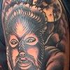 Mayson's Wolfman Tattoo finished