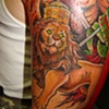 Detail, Lion of Judah Half Sleeve