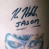 Mike's Hodder autograph over his Hodder tatty!