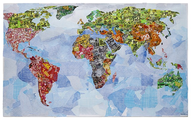 World Map with Gini Coefficients