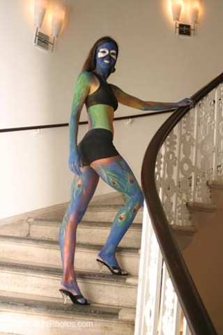 Peacock Bodypainting