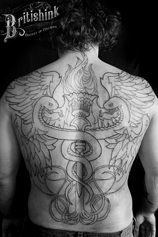 Caduceus Back Piece