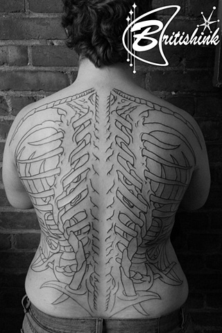 Giger-ized Back Piece