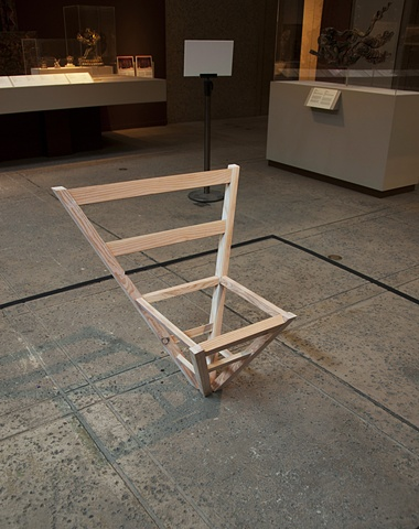 chair, point,  brian zimmerman, art, artist, Buddha chair , san diego museum of art, summer salon series, 2011