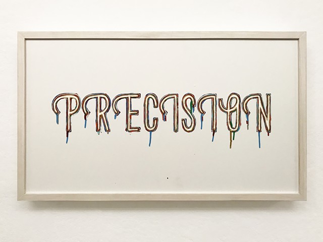 precision, paint, enamel, sign art, brian zimmerman, bryan, art, st. louis, webster university,