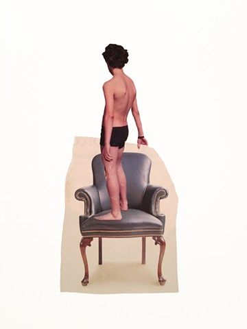 brian zimmerman, bryan, art, sculpture, las vegas, st. louis, webster, collage, chairs, boy in chair