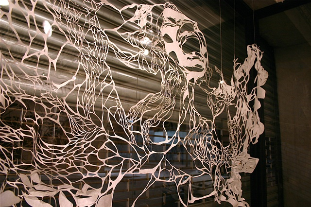 Cutting Edge Escapes 2010 The Loom. Brooklyn, NY  Front Window Display