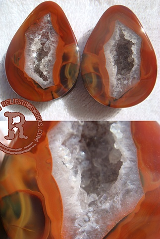 "1 1/2"" Red Thunder Condor Agate"