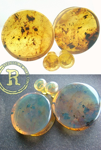 "1 1/2"" Blue/Green Amber with Conches"