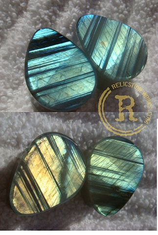 "3/4"" Blue/Gold Striated Labradorite"