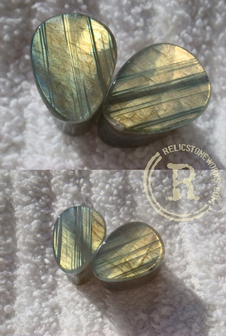 "1/2"" Striated Labradorite Teardrops"