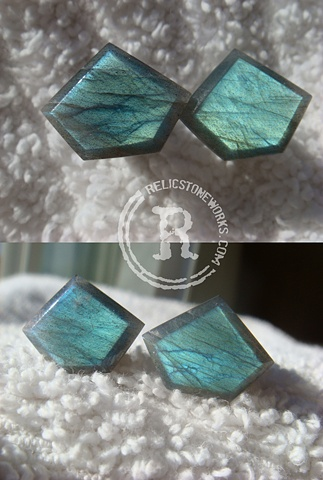 0g Labradorite Pentagon Facets