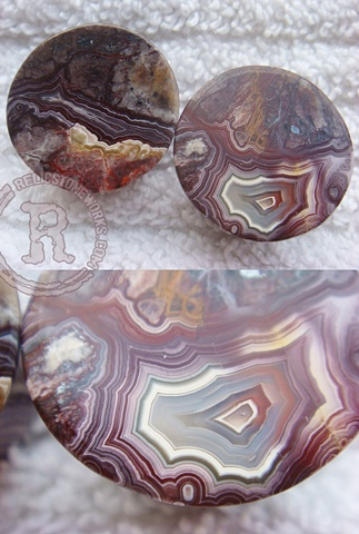 "3/4"" Red Lace Agate Mayans"