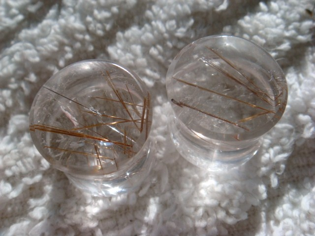 Rutilated Quartz (clear with copper needles)