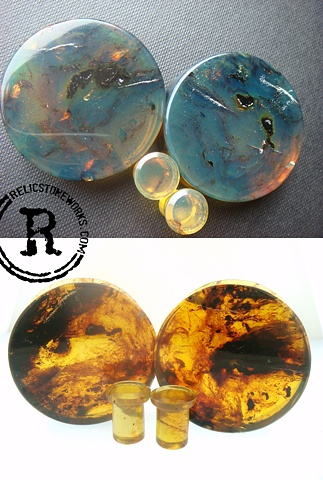 "1 5/8"" Green Amber with Conches"