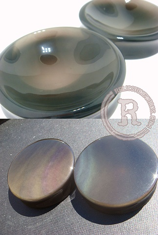 "1 7/8"" Rainbow Obsidian Single Concaves"