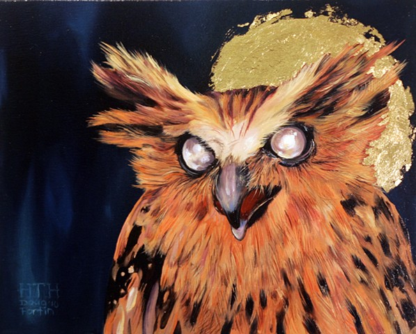 painting of owl by doug fortin