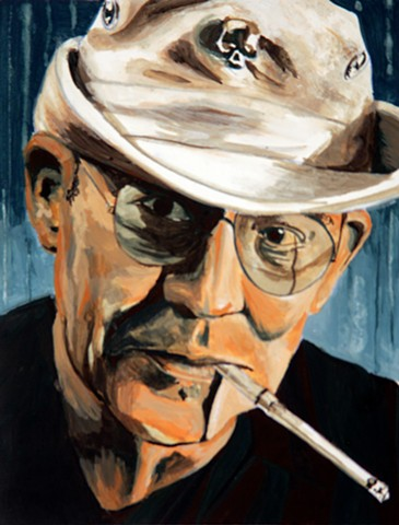 painting of hunter thompson by doug fortin