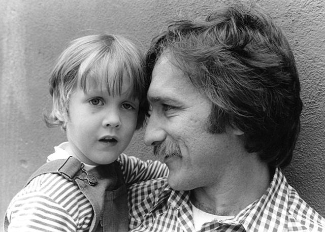 John and son in Boston