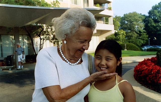 Grandma and grandchild