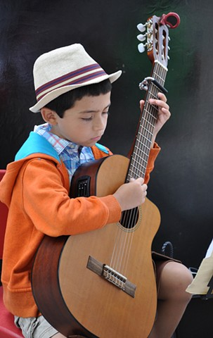 Young Street Musician, Asheville