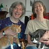 Sam and Kathy and their cats