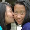 Tessa kissing Zoe