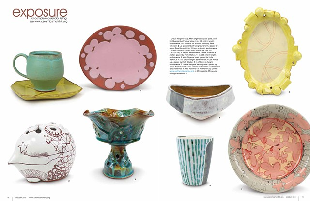 EXPOSURE: Exquisite Pots II Ceramics Monthly  October 2013