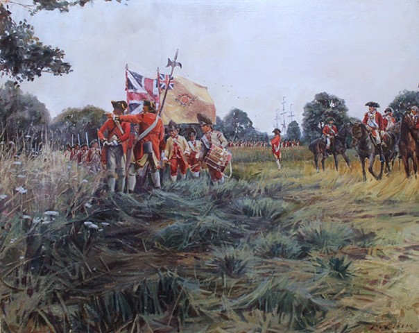 Marcus Pierno, Battle of Brooklyn, 22nd Regiment of Foot, Gen. Francis Smith, Gen.William Howe, Staten Island