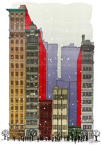 """Union Square"" Christmas Card design"