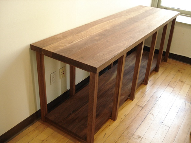 solid walnut side table