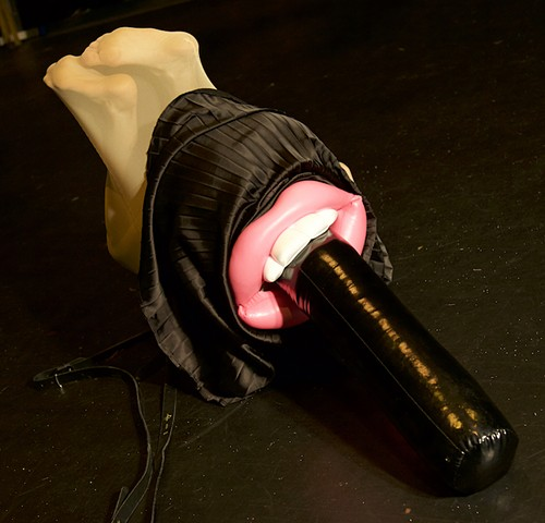 Mouth Stocking Woman